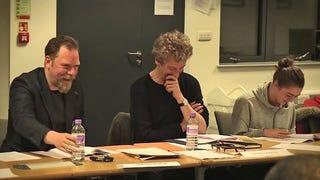 Rufus Hound and Maisie Williams on