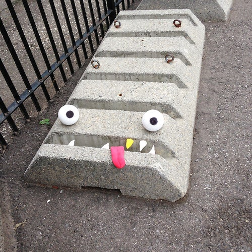 Eyes and teeth transform ordinary objects into Muppety street art