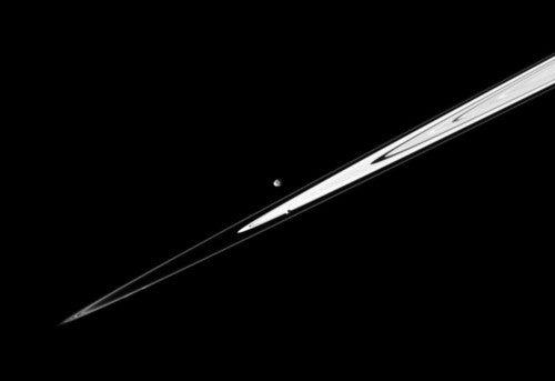 Saturn's Rings in Profile