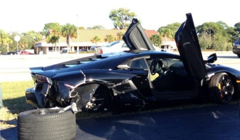 A 79-Year-Old Florida Driver Took Out This Lamborghini Aventador