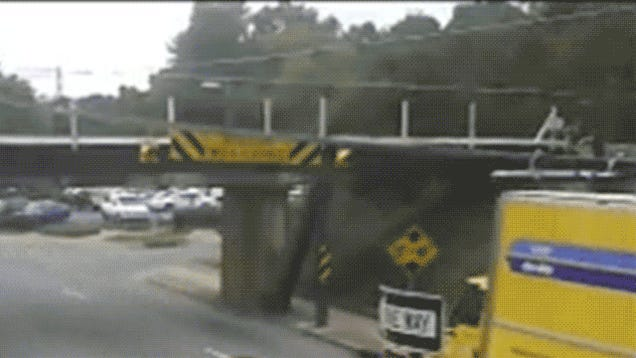 Watch This Bridge Destroy Dozens of Trucks and Buses
