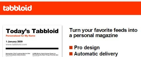 Tabbloid Turns Your RSS Feed into a Newspaper