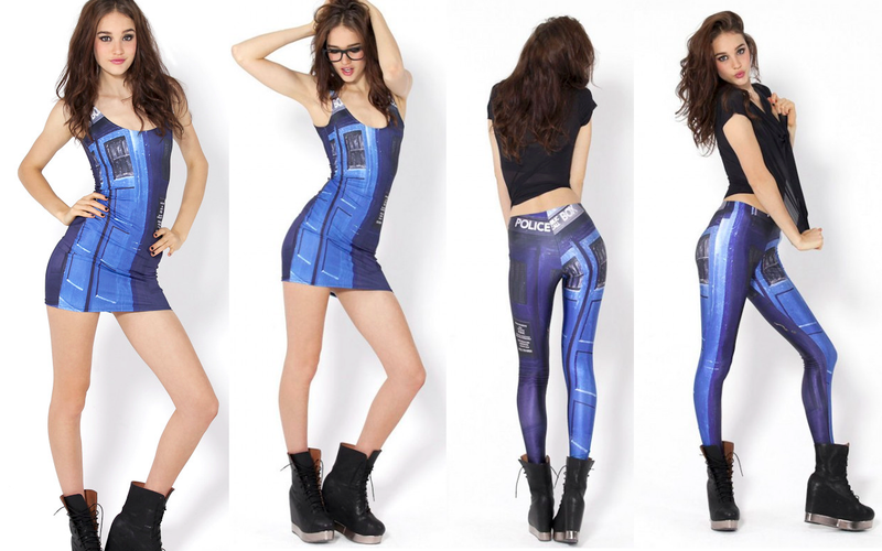 These TARDIS tights leave little to the imagination, are not Dalek-proof