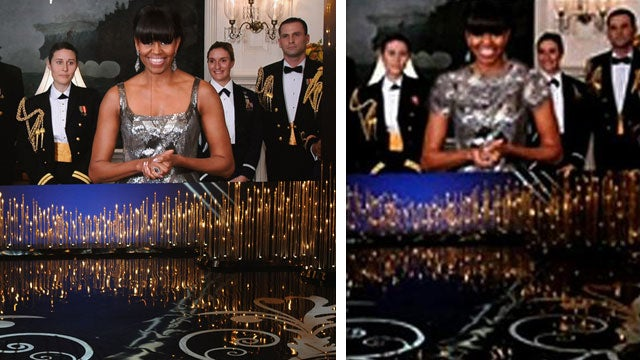 Iranian Media Censors Michelle Obama's 'Revealing' Oscars Dress