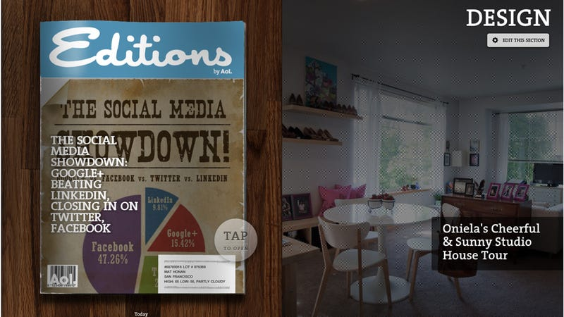 New iPad Magazine From Aol Picks Awesome Reads For You