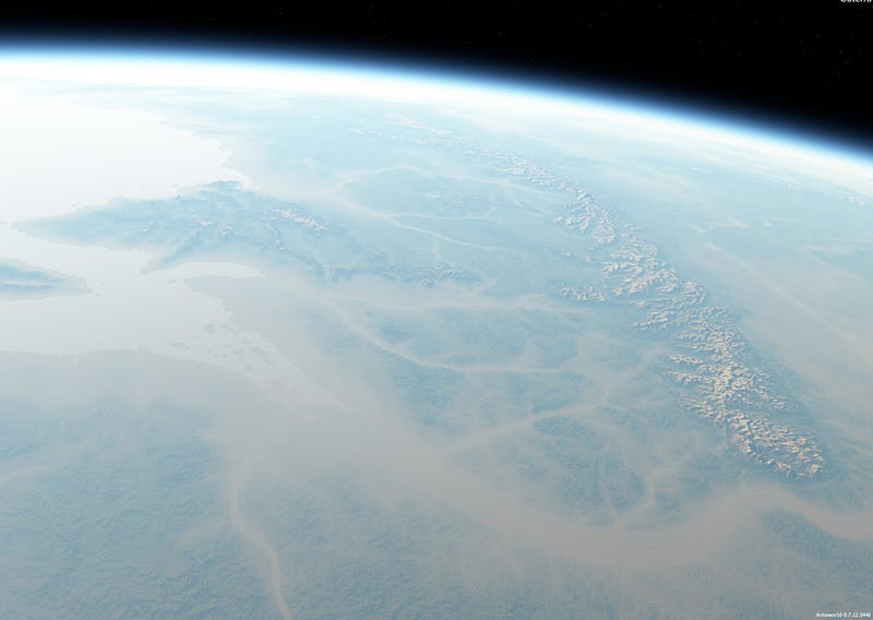 What would Middle Earth look like from space?