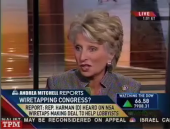Jane Harman's Media Tour Gets Off to a Bad Start