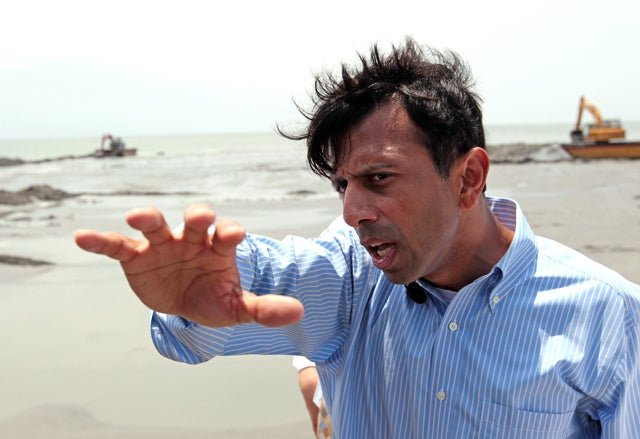 Bobby Jindal's 'Crummy' Sand Berms Didn't Really Stop Any Spilled Oil