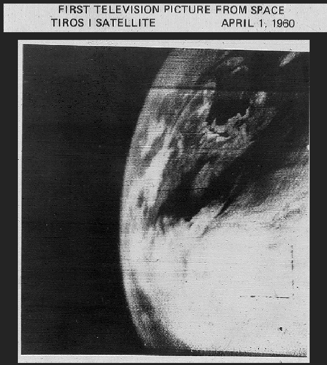 The first image of Earth taken by a weather satellite