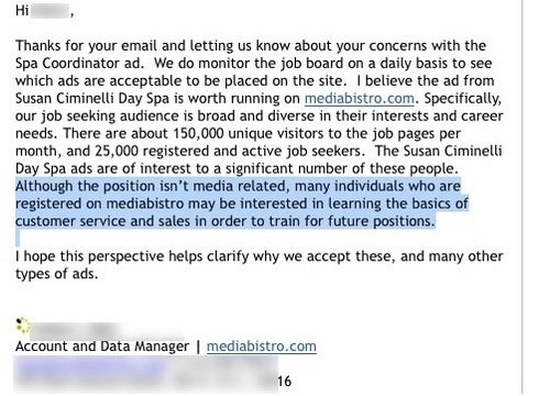 Sign of Depressing Times: Media People Pushed Toward Customer Service Jobs