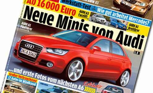 2009 Audi A1 5 Door On Cover of AutoBild?