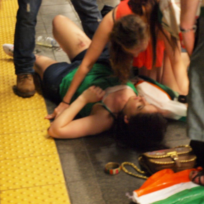 How Two Irish Soccer Fans Survived Falling On The Tracks Last Night