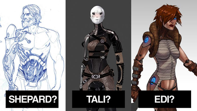 "Tali's ""Official"" Face, A Cyborg Shepard And Other BioWare Sketches"