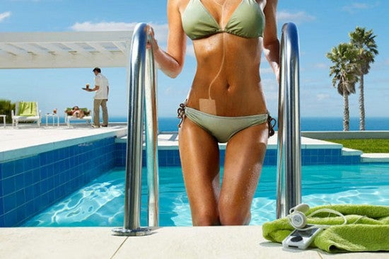 Misleading Photography: A Zune 30 Is Far Too Heavy for That Bikini