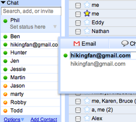 Quickly Edit Gmail Contacts Through Your Chat List