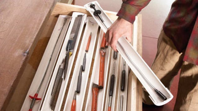 DIY Stackable PVC Drawer Organizers Keep Small Tools