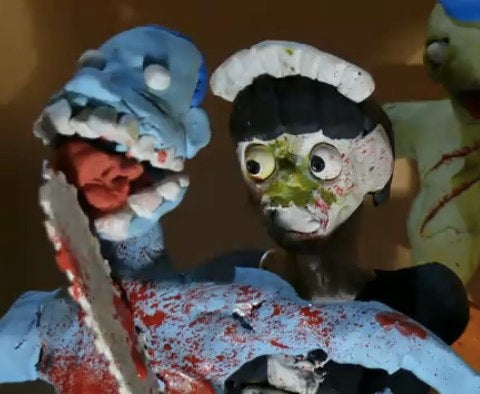 The Claymation zombie-killing Chainsaw Maid rises again