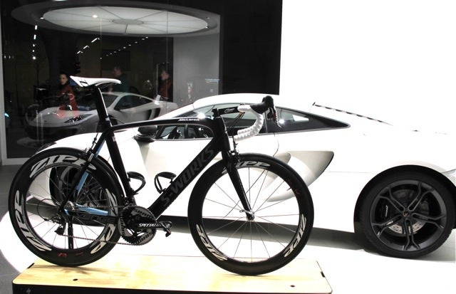 When cycling and and motor sports meet.