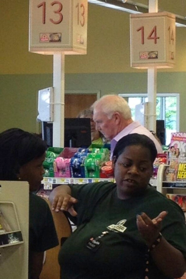 Here's Sad Charlie Manuel In A Supermarket Checkout Line