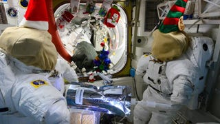 Yikes! It's like a Doctor Who Christmas on the ISS