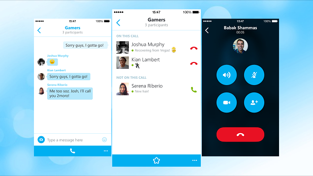 Skype on iOS Now Allows Group Audio Calls