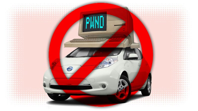 Fortunately There's No Remote Unlock — Nissan Leaf
