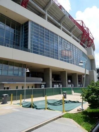 Metaphor Becomes Reality At Titans' Stadium