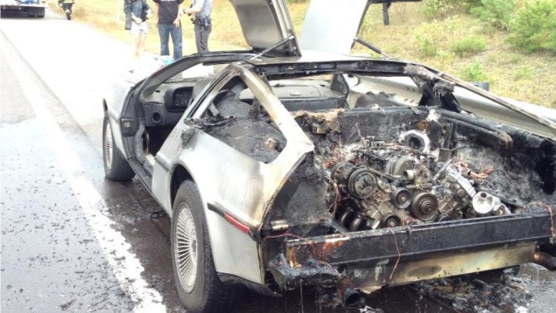 What The Hell Made This DeLorean Melt To The Ground?