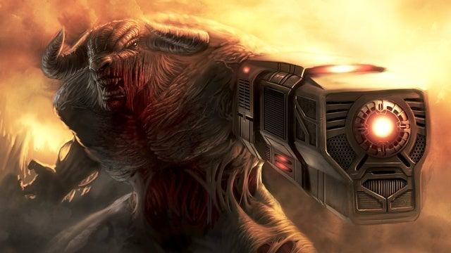 Durva festményeken a Doom szörnyei