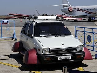"Indian flying car channels ""Back to the Future"""