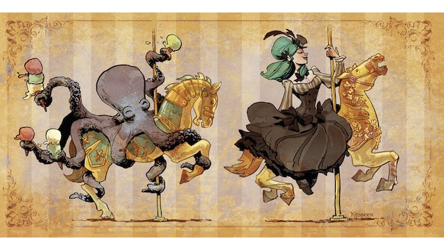 These adorable steampunk illustrations make us want a pet octopus of our own