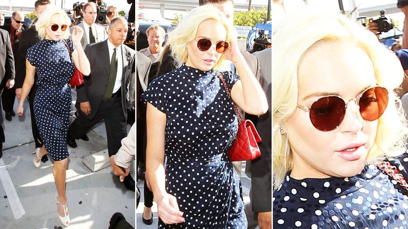 Lindsay Lohan Sentenced to Jail Again, Despite Best Court Outfit Yet