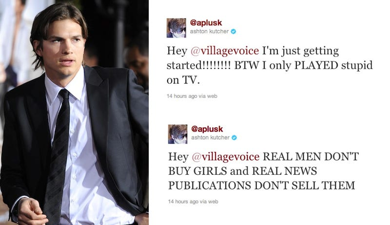 Ashton Kutcher Blasts The Village Voice On Twitter