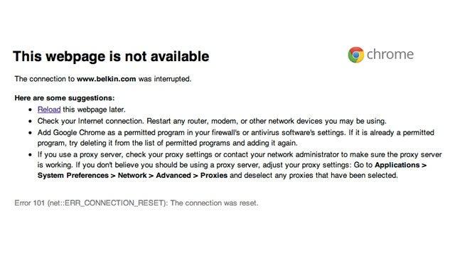 Whoops, I Broke Belkin's Site