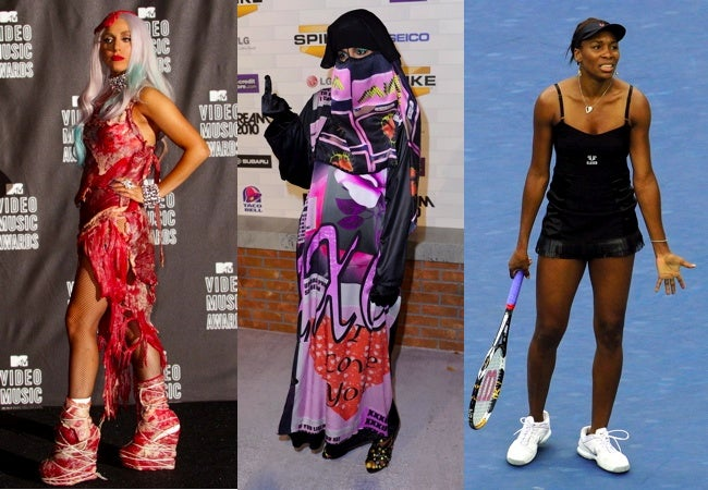 """Lady Gaga And Her Meat Dress Top 2010 Fashion """"Moments"""""""