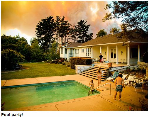 Raging Santa Barbara Inferno Pool Party Everyone!