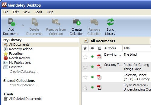 Mendeley Manages Your Documents on Your Desktop and in the Cloud