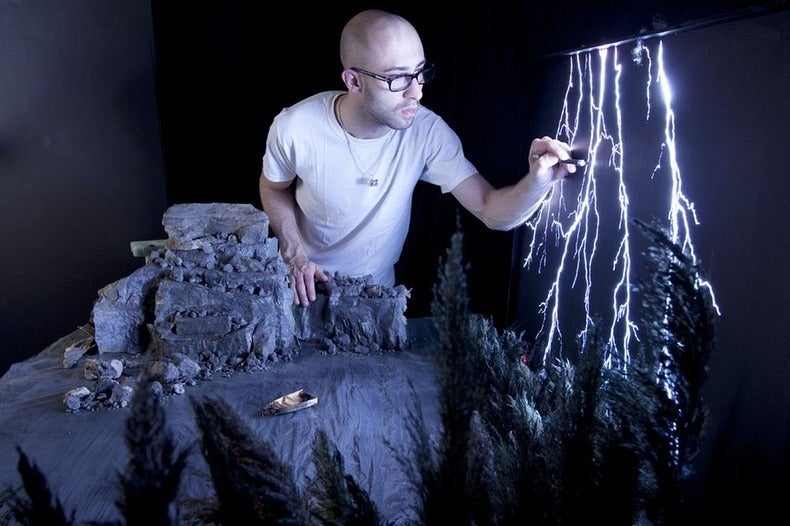 This Terrifying Lighting Storm Is a Masterful, Miniature Fake