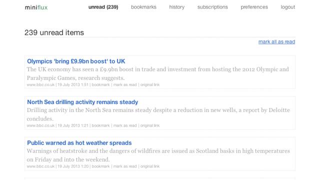 MiniFlux is a Secure, Minimal News Reader