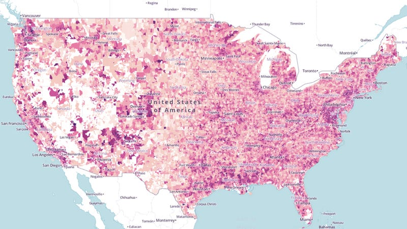 Compare your commute time to the rest of America's with this interactive map