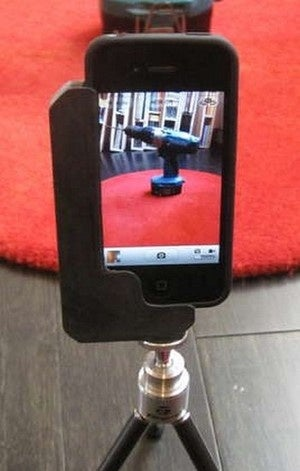 DIY Smartphone Tripod Adapter Crafted from Found Materials