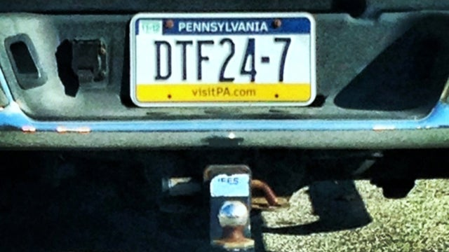 The Pennsylvania DMV Approved This Douchey Vanity Plate