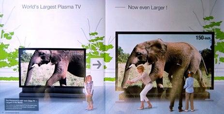 Panasonic 150-Inch Plasma Next To That Tiny 103-Incher From Last Year