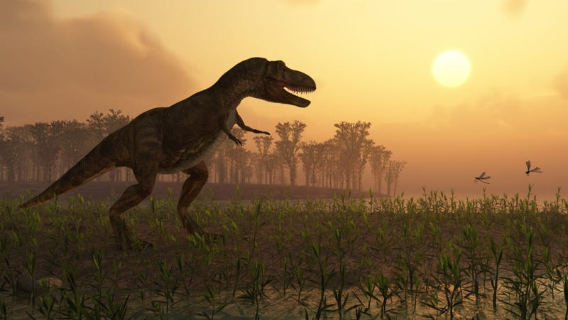 Dinosaurs were surrounded by constant fires