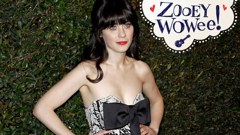 Zooey Deschanel Tweets at Gawker Writer