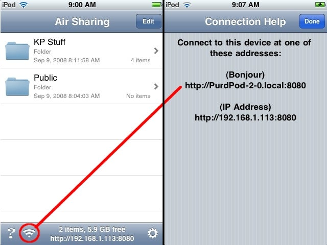 Air Sharing Transfers Files Between iPhones and Any System