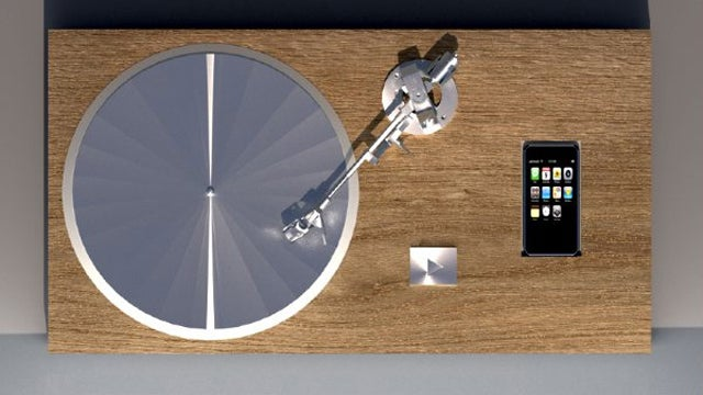 Old World Meets New World in This iPhone Turntable Box