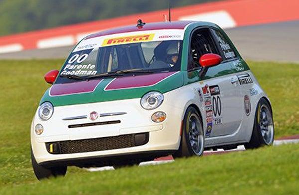 Head, Hands, Feet, Eyes, Ass, Balls In A Pirelli World Challenge Fiat 500