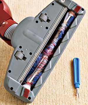 Use a Seam Ripper to De-Tangle Vacuum Cleaner Rollers