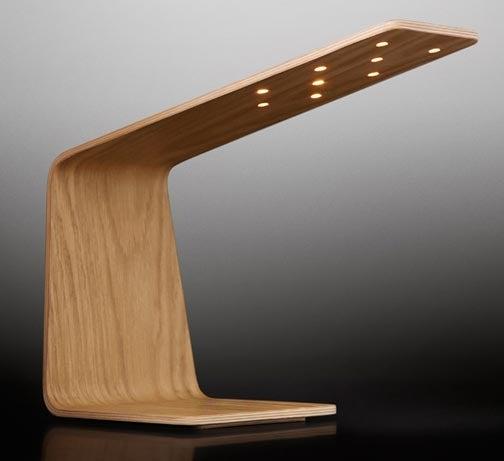 Tunto LED Desk Lamp Infuses Wood With Light